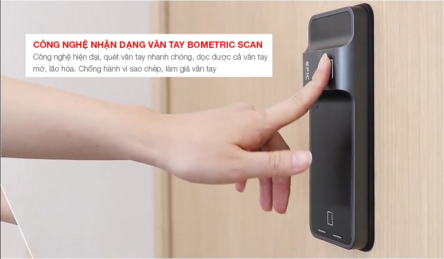 Công nghệ quét vân tay hiện đại Biometric Scan