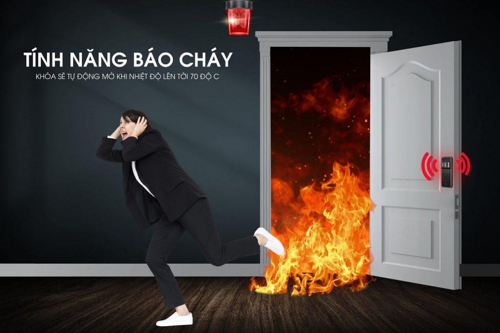 Khóa điện tử Epic - Tính năng báo cháy