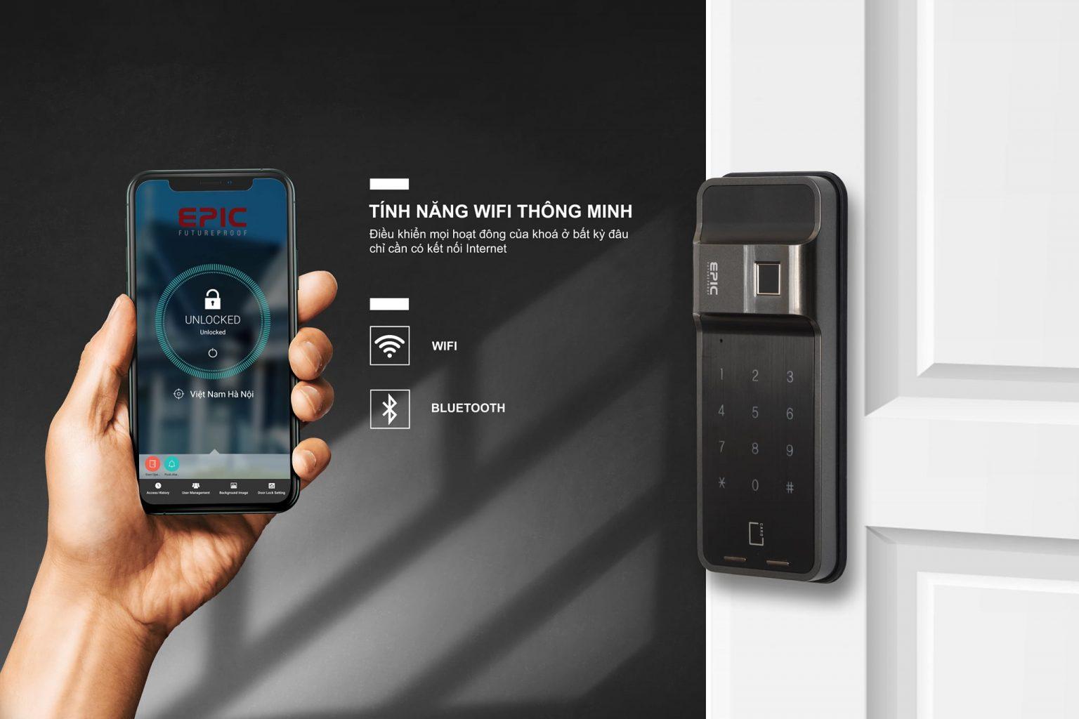 Khóa điện tử Epic ES F500 H- Tính năng wifi