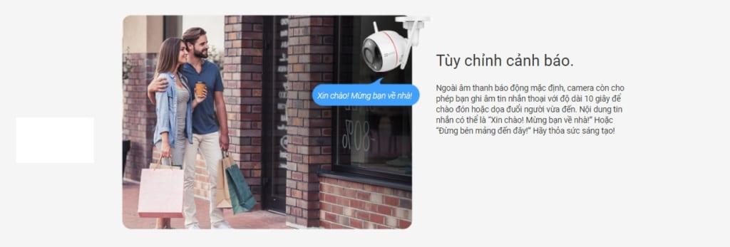 Camera Wifi 2MP EZVIZ 1080P C3W Full color (CS-CV310-A0-3C2WFRL) - Tuỳ chỉnh cảnh báo